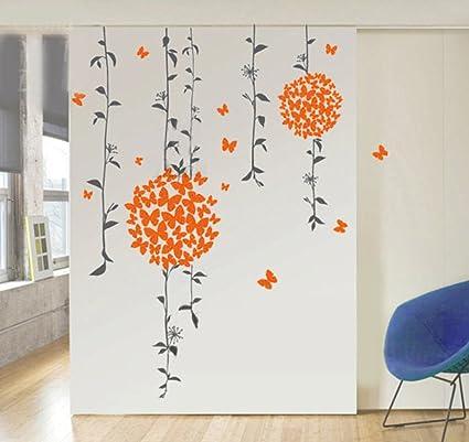 Decals Design Butterflies Wall Sticker (PVC Vinyl, 50 cm x 70 cm, Multicolour)