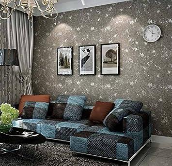 Poowef Wallpaper Couleur Clair Vent Industriel Senior Ciment Peint
