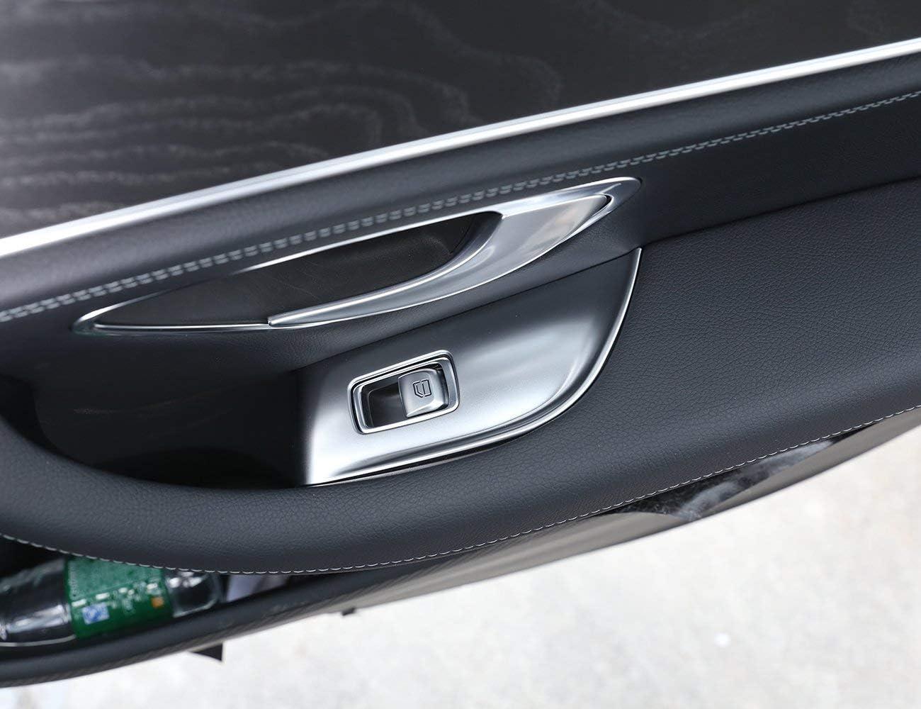 Topauto TOP-Auto f/ür Mercedes Benz E-Klasse W213 2016 4 St/ück//Set ABS Chrom Fensterheber Rahmen Blende