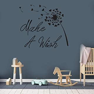 Quote Mirror Decal Quotes Vinyl Wall Decals Wall Sticker Make A Wish For Nursery Kids Room Bedroom