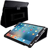iPad Pro 12.9 2015 Case, Snugg Leather iPad Pro 12.9 2015 Case Cover Protective Flip Stand Black for Apple iPad Pro 12.9 2015