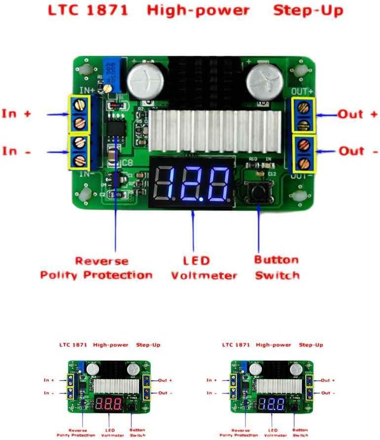 Kongnijiwa Modul Serie LTC1871 3,5V-30V DC-Boost-Wandler Netztrafo Spannungsregler Step Up Volt Module Power Supply Board f/ür Auto Auto
