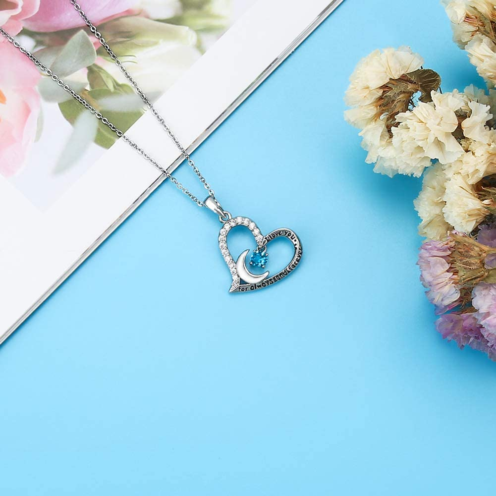 Funny 91st Birthday Gifts for Women 91st Birthday Gifts for Women Stainless Steel Womens Dark Blue Zircon Heart Necklace 91 Year Old Birthday Gifts for Women