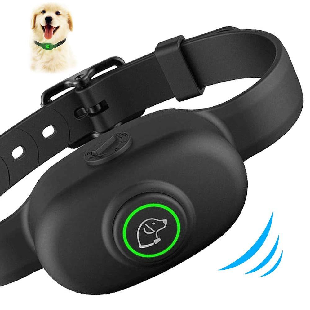 Dog Bark Collar, Humane Anti Barking Training Collar, Adjustable Stop Barking Collar for Small Medium Large Dogs, Best No Barking Control Dog Collar by Moer Sky