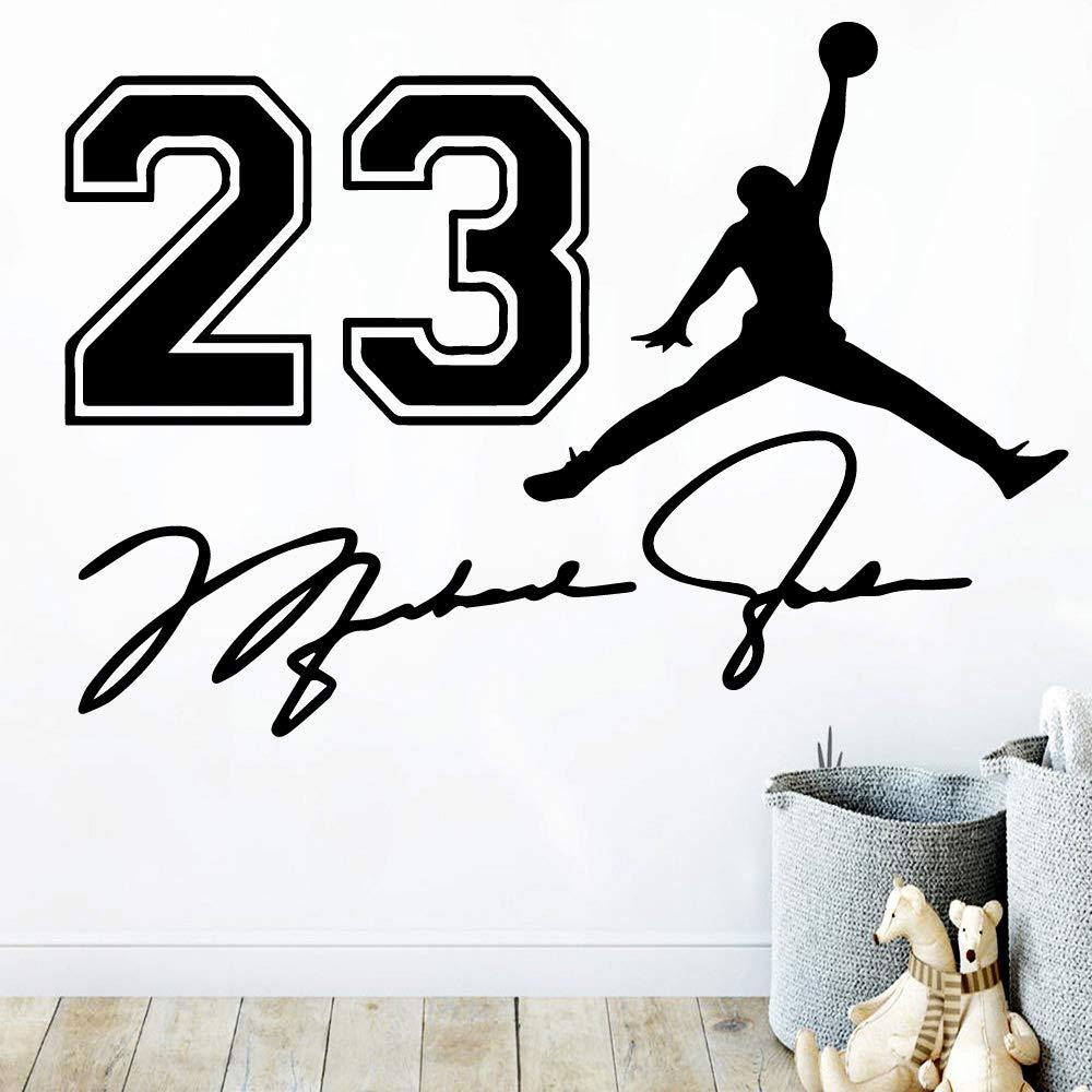 Cartoon 23 Michael Jordan Baloncesto Vinilo Etiqueta de La Pared ...