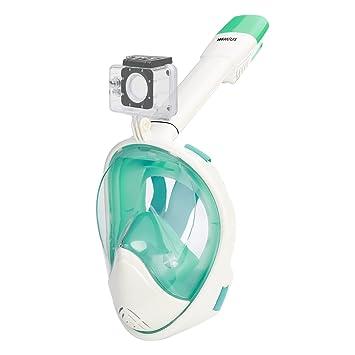 Máscara de buceo (Máscara completa wimius vollges ichtsmaske EASYBREATH Snorkel Máscara 180 ° vollges ichte