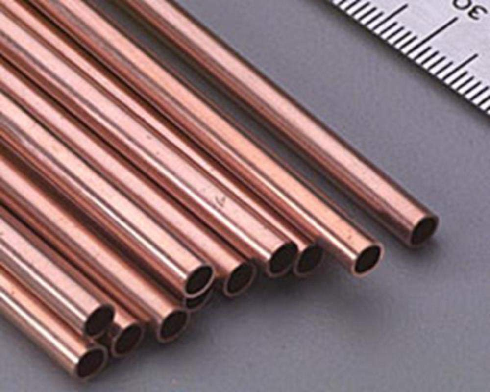 """K/&S Metal Round Tube 5//32/"""" D X 12/"""" L Aluminum Carded"""
