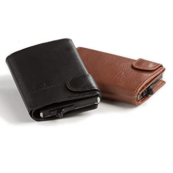 b1dde1ad2e200 Card Guard Geldbörse Herren 2 Stk. braun und schwarz