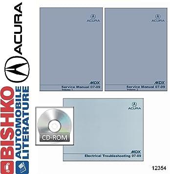amazon com 2007 2008 2009 acura mdx shop service repair manual cd w rh amazon com 2014 Acura MDX 2010 Acura MDX
