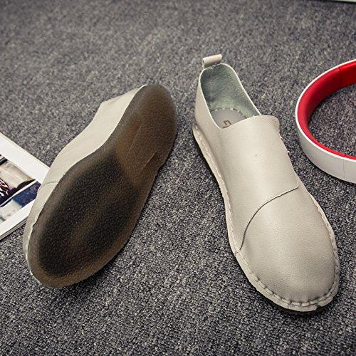 Voiture Casual Classique La Beige Conduisant Haute L'homme De Qualité Chaussures Patins EZqngnUp