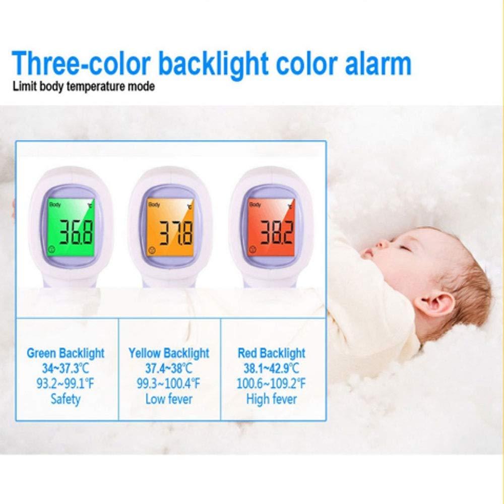 Termometro Multifunzione a Distanza Bambini e Neonati con Allarme Febbre a Infrarossi a Lettura Istantanea per Adulti Fronte e Orecchio