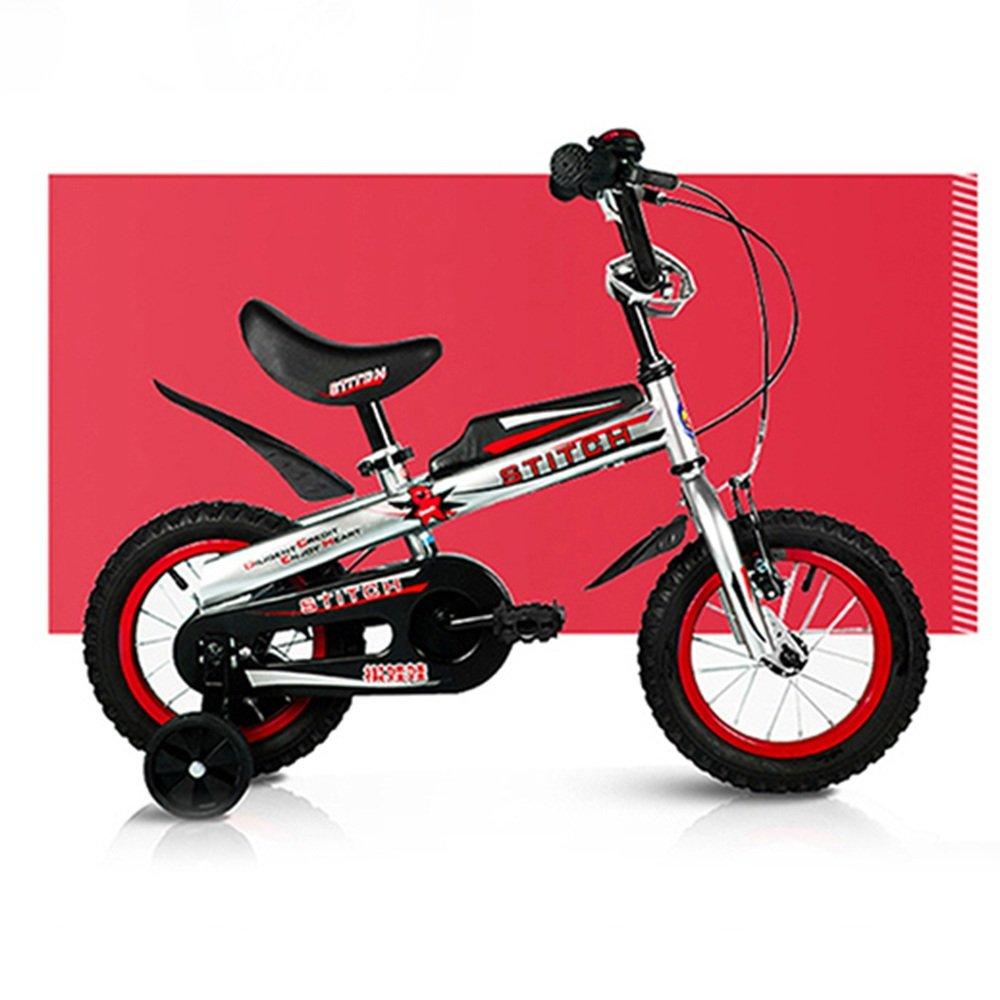 YANFEI 子ども用自転車 ROYAL BABY BUTTONSフリースタイルのBMXキッズバイク12,14,16インチ重い脱着式スタビライザー。 子供用ギフト B07DZG6NPV 14Inch|赤 赤 14Inch