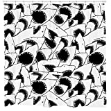 Black and White Shower Curtain Cool Shark Shower Curtain for Pirate Themed Bathroom Black and White Repeating Animal Pattern Waterproof Fabric with 12 Hooks Included