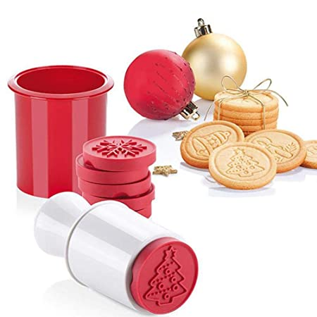 Cookie Stamps Christmas Baking Molds 6 Piece 3d Christmas Cookie Stamps Set Kitchen Baking Supplies Tools Kids Crafts Bakeware Kit