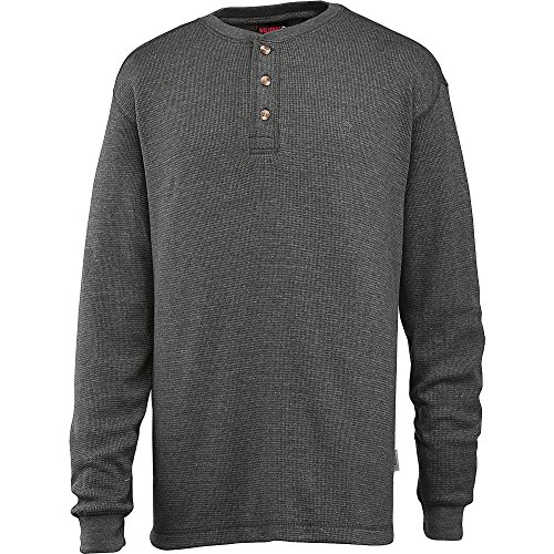 Tall Walden Long Sleeve Blended Thermal 3 Button Henley Shirt, Granite Heather, 2X-Large ()