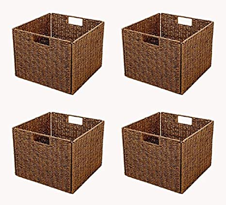 Amazon.com: Trademark Innovations Foldable Storage Basket Iron Wire ...
