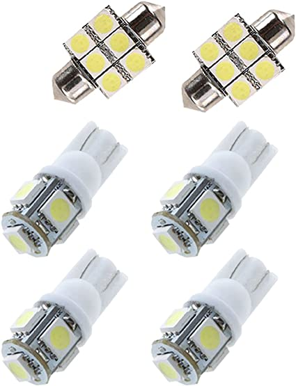 2008-2017 Dodge Challenger White LED Interior MAP DOME Lights Replacement Kit