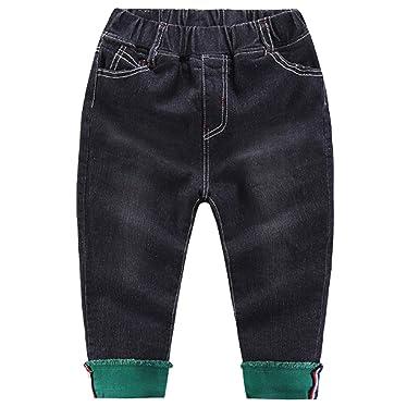 Amazon.com: Osave - Pantalones vaqueros de invierno gruesos ...