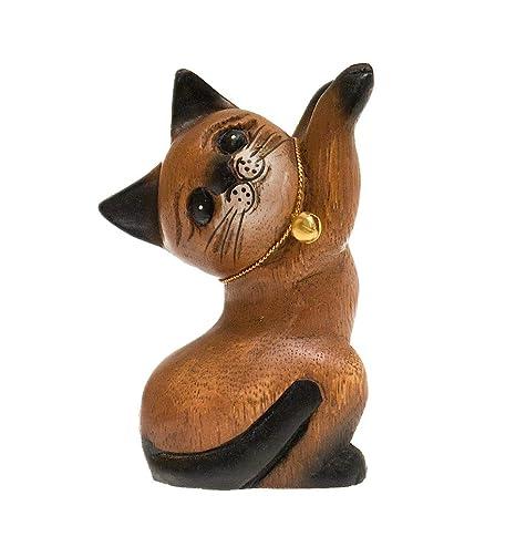 ROMBOL Gato, springend, Izquierda, Madera, Madera Escultura, Decorar, Decoración,
