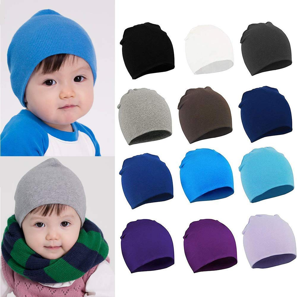 827f6b37f8b Amazon.com  American Trends Kids Baby Toddler Beanie Hats Infant Newborn  Nursery Hat Cute Warm Cotton Soft Cap  Clothing