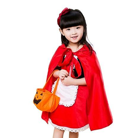 colourstone Deguisement como el Caperucita Roja para niños niña ...