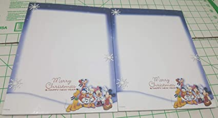 christmas blue snowflake border withmerry christmas and happy new year on bottom and
