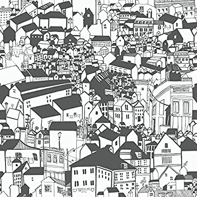 Eco Wallpaper Lissabon Village Motif Wallpaper