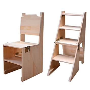 Amazon.com: Step Stool Wood,Bed Steps/Plant Stand ...