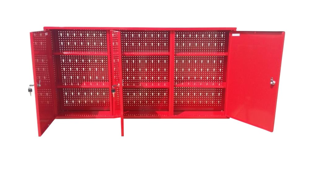 US PRO METAL GARAGE STORAGE CUPBOARD TOOL CHEST TOOL BOX 3 CUPBOARD
