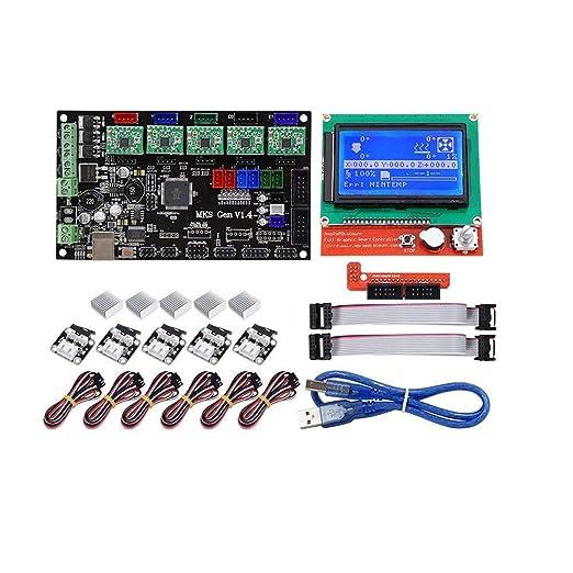 PEJGD MKS Gen Motherboard V1.4 + 12864 Pantalla LCD + 5X A4988 ...