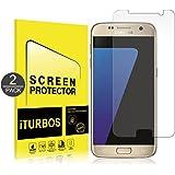 [2-Pack] Verre Trempé Galaxy S7, iTURBOS Verre Trempé Protecteur D'écran En Verre Samsung Galaxy S7 Anti Éraflures - Économiseur d'écran en verre 9H Dureté De Bulle