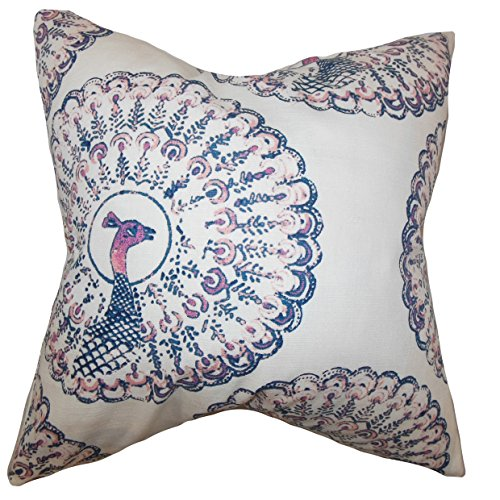 The Pillow Collection QUEEN-d-paboreal-sapphire-c95-l5 Sapphire Ieesha Animal Print Bedding Sham, Queen/20'' x 30'' by The Pillow Collection