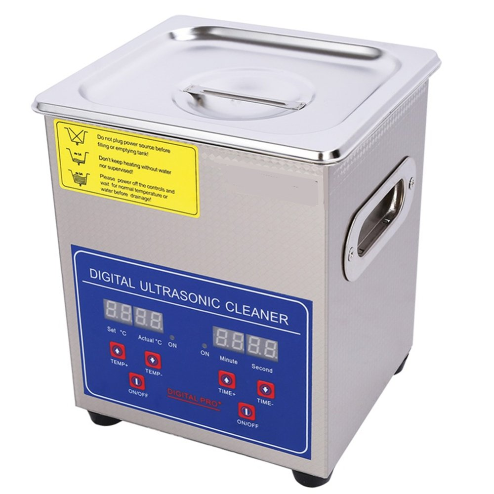 CGOLDENWALL 80W 2L Digital Commercial Grade Stainless steel Heating Ultrasonic Cleaner Eyeglasses Jewelry Cleaner 110V/220V with Cleaning Basket by CGOLDENWALL