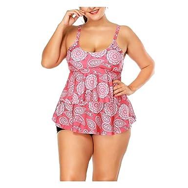 Bañador/Bikini La Sra. Split Falda de múltiples Capas con Bikini ...