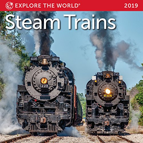 Steam Trains Mini Wall Calendar 2019 Monthly January-December 7