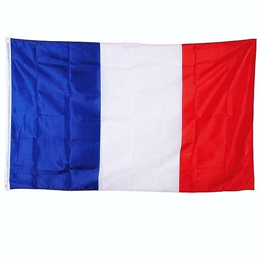 Drapeau France 150x90cm - Drapeau français 90 x 150 cm - supporter Football Coupe du Monde Foot 2018
