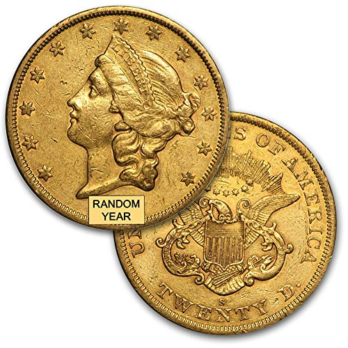 1850 - 1907 (Random Year) $20 Liberty Gold Coin Cleaned XF