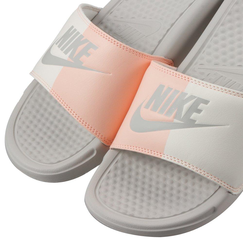 Nike Benassi JDI, Scarpe da Scogli Donna, Grigio Light Bone