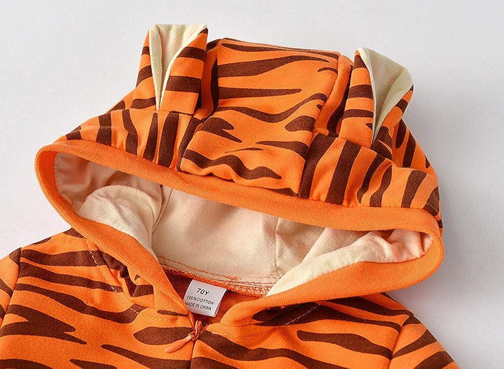 bobo4818 Babys Karikatur Schlafanzug Tiger Strampelanzug Overall Baumwolle gemischt Langarm Strampler Outwear
