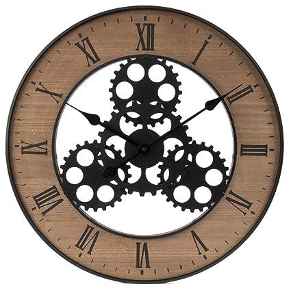 Ceanothe Horloge Industrielle 60 Cm Amazonfr Cuisine Maison
