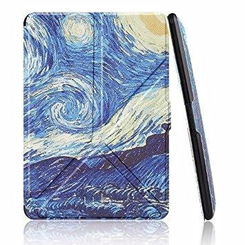 e3d7e98bb6b4f Capa Case Kindle Voyage WB® Auto Liga Desliga - Origami Van Gogh ...