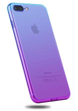 IPhone 8 Plus CaseCLONG 7 Colorful Clear Slim Case Translucent Impact Resistant