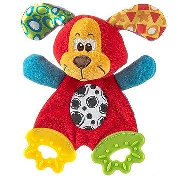 hibote Animal Apacigua Toalla Pañuelo Mordedor con Sonido para el bebé (perro): Amazon.es: Juguetes y juegos