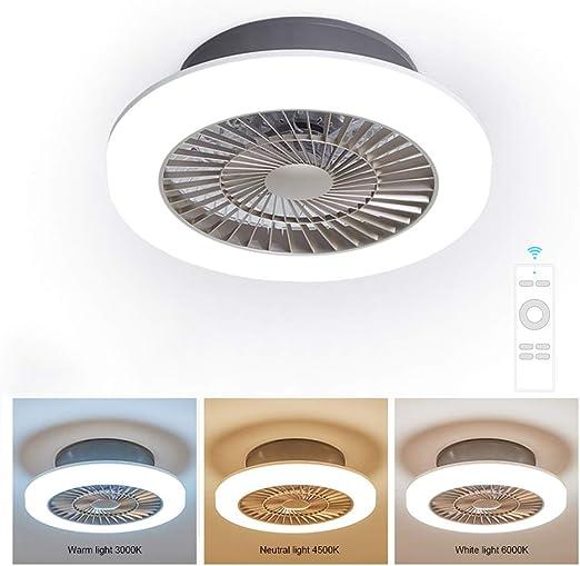 Ventilador de techo con lámpara y control remoto, Ventilador con ...