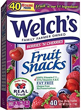 40-Count Welch's Berries 'n Cherries 0.9 Ounce Fruit Snacks