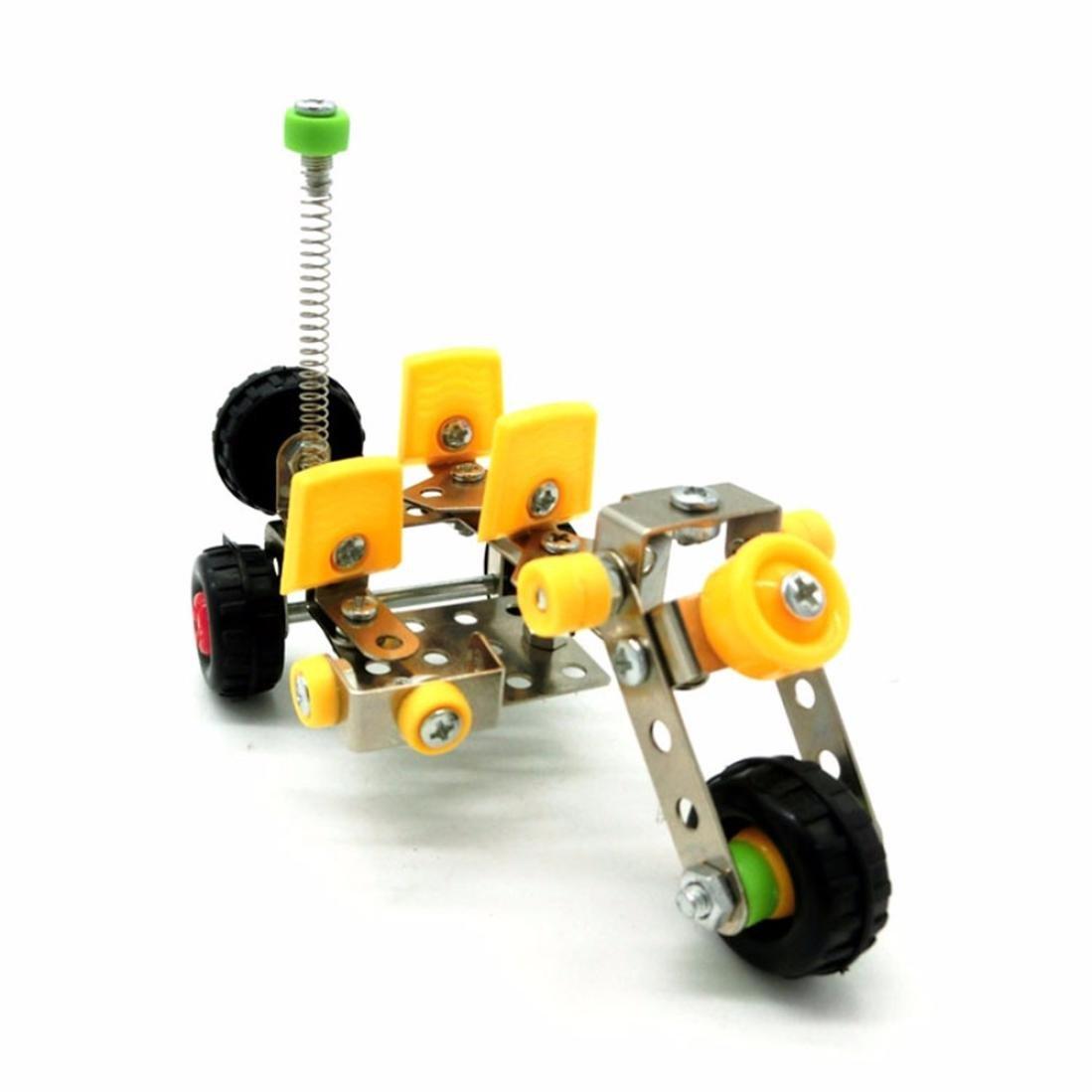3d Solid Metal Assembly Blocks Toy,Mamum DIY 3D Three Dimensional Metal Jigsaw Puzzle Assembling Block Engineering Nut D