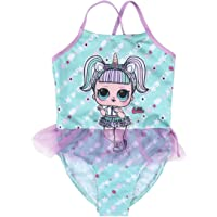 L O L Surprise! Bañador Unicornio para Niñas, Traje de Baño Una Pieza, Diseño Falda Tul Tutú 3D, Piscina Playa…