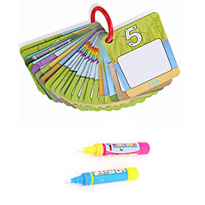 Little Bado Children Early Education Cognitive Drawing Cards, Water Painting Magic Doodle 26 Card with 2 Magic Pen Included, Beast Learning Toy for Toddlers Gift: Toys & Games