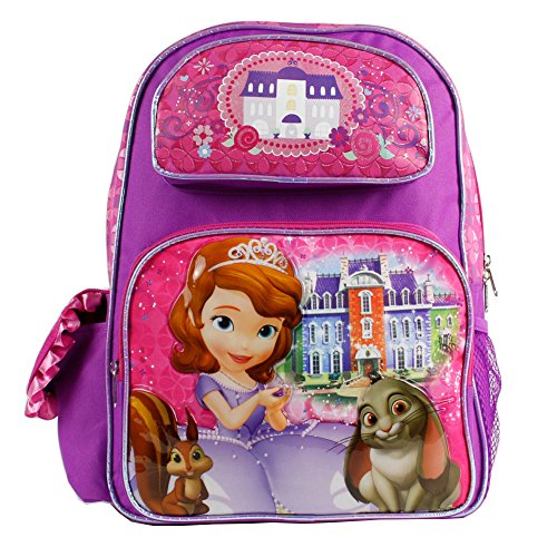 Disney Junior Sofia the First Princess Girls 16' Large Backpack- Princess Palace -