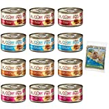Wellness CORE Natural Canned Grain Free Wet Classic Pate Cat Food Variety Pack and Catnip - 4 Flavors - 3 Ounces Each (12 Cans Total)